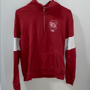 PINK University of South Caroline zip up crew neck